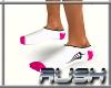 {DR} Socks White Pink