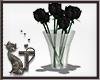 Vase/Roses Black