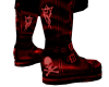 Red Blood Skull Boots