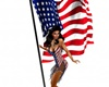 American Flag with Poses