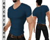 VNeck Shirt Blue