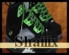 Black & Green Jordans