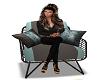Teal chair