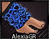[A] Blue LegWarmers