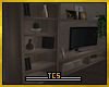 Tv set & shelves