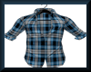 [LM]His Plaid Top-Blue