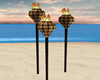 Tiki Torch Trio Set