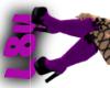 L8y* Tattered Boots prpl