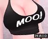 🅜 COW: moo top black