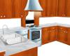 Kitchen w/Wood Cabinets