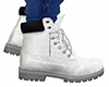 White Lace Work Boots M