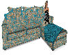 Blue Paisley Sectional
