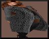 LeopardCoat&Top Gray/Blk