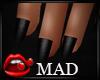 MaD Black nails