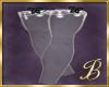 Burlesque stocking white