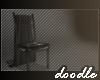 Draped Chair   Black
