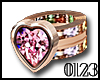 *0123* Pink Heart Ring