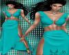 Turquise Ring Slit Dress