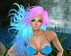 Blue Pink Mermaid Hair