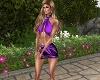 Lavender Tropical Shorts