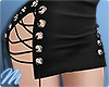 ☾ Lace up skirt black