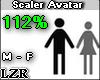 Scaler Avatar M - F 112%