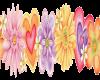 large flowerheart border