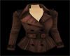 Brown Peacoat Jacket