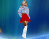 Red Ice Skating Outfit