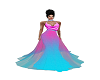 Neon Pink/Blue gown