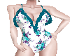 Teal Floral SwimSuit