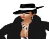 BLACK FEDORA MAFIA HAT