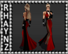 Ria Red Evening Gown