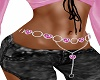 pink heart belly chain