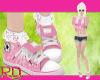 Pink Lace Converse