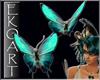 [E] 2 Aqua Butterflies