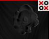 Black Rose Hair Clip - R