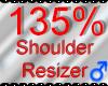 *M* Shoulder Resizer 135